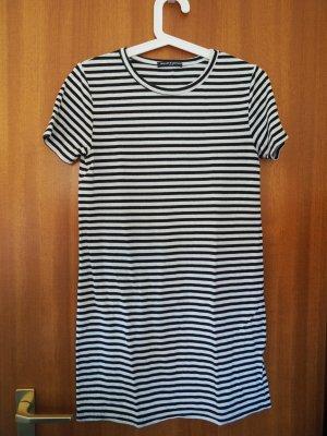 Brandy & Melville Shirt Dress white-dark blue cotton