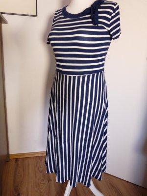 Fever london Sukienka z krótkim rękawem biały-niebieski
