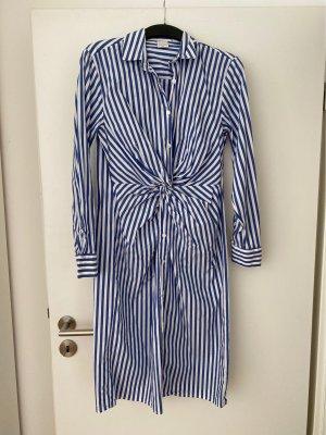 Rinascimento Abito blusa camicia bianco-blu acciaio