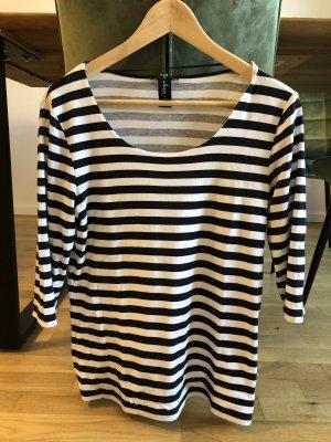 Street One Gestreept shirt zwart-wit Katoen