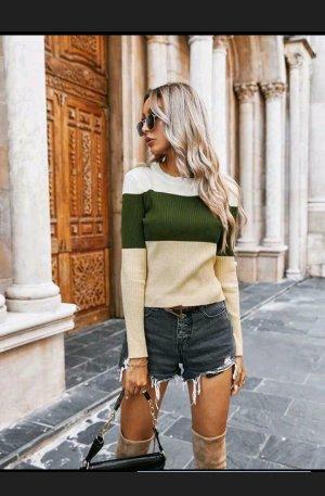 Sheinside Warkoczowy sweter Wielokolorowy