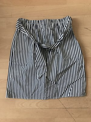 Reserved Mini rok donkerblauw-wit