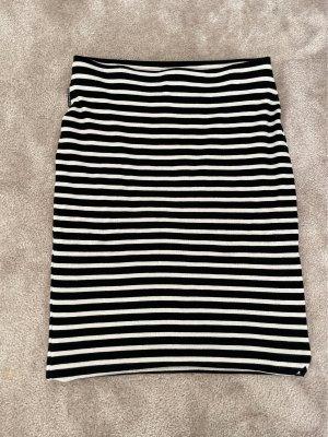 marccain sport Spódnica ze stretchu czarny-biały