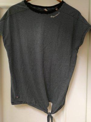 Ragwear T-shirt rayé noir-gris clair