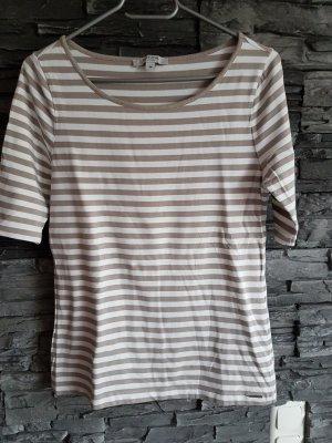 Comma T-shirt bianco sporco-beige