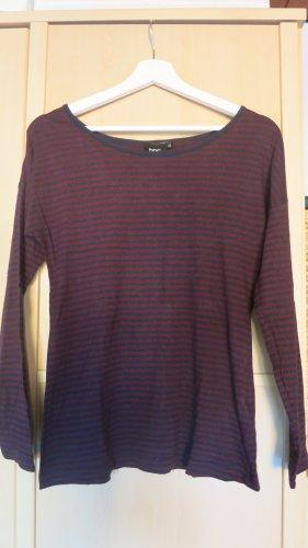 bpc bonprix collection Maglietta a righe blu scuro-magenta
