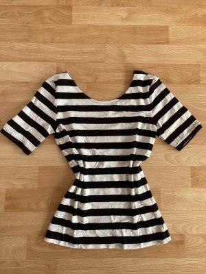 Rainbow Stripe Shirt black-white