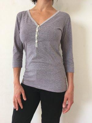 H&M L.O.G.G. T-shirt rayé gris-violet foncé