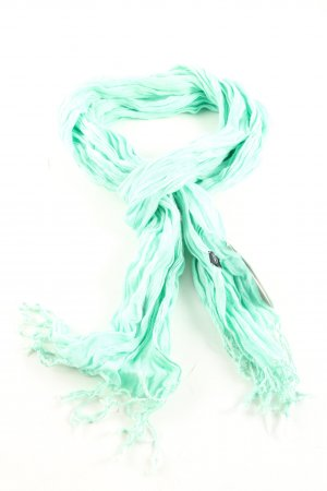 strellson Crinkle Scarf turquoise casual look