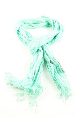 strellson Écharpe froissée turquoise style décontracté