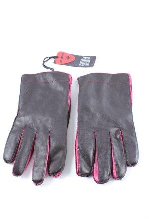 strellson Rękawiczki skórzane czarny-różowy W stylu biznesowym