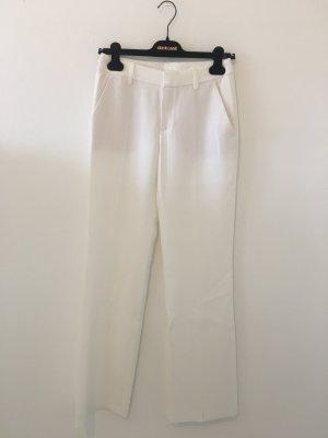 Strenesse 34 Bundfaltenhosen Hose Anzug Konfektion offwhite Creme Sommer Hose weit gerade