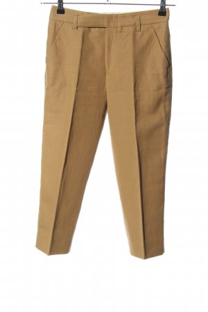 Strenesse 7/8 Length Trousers brown weave pattern business style
