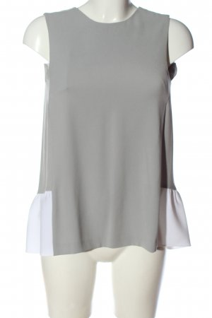 Strenesse Blusa sin mangas gris claro-blanco look casual