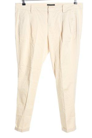 Strenesse Spodnie garniturowe kremowy W stylu biznesowym
