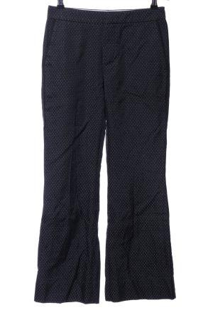 Strenesse Anzughose schwarz-weiß Allover-Druck Business-Look