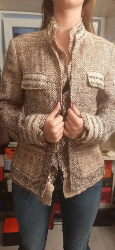 Strenesse Blazer de lana marrón claro-crema
