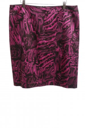 Strenesse Bleistiftrock schwarz-pink abstraktes Muster Casual-Look