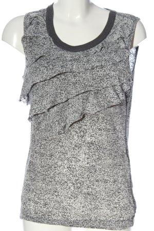 Strenesse Blue ärmellose Bluse weiß-schwarz Allover-Druck Casual-Look
