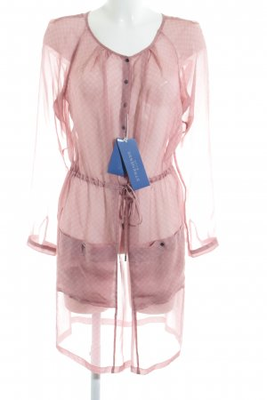 Strenesse Blue Blusenkleid rosa grafisches Muster Casual-Look