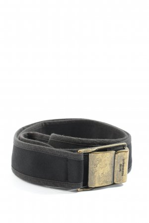 Strenesse Blue Canvas Belt black casual look