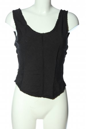 Strenesse Blue Cropped Top schwarz Casual-Look