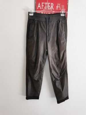 Strenesse Blue Leather Trousers black brown-black leather