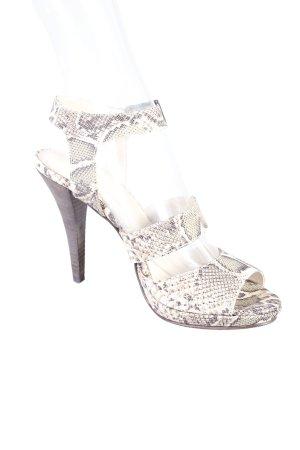 Strenesse Blue High Heel Sandaletten olivgrün-beige Animalmuster Party-Look