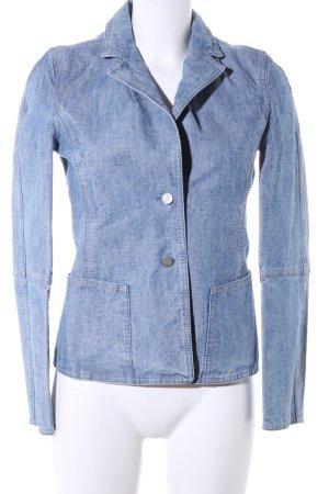 Strenesse Blue Spijkerblazer blauw casual uitstraling