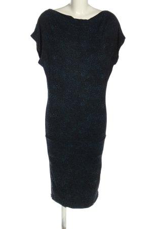 Strenesse Blue Jerseykleid schwarz-blau Animalmuster Casual-Look