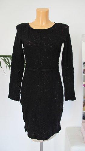 Strenesse Blue Kleid Wolle Gr. 36 schwarz beige