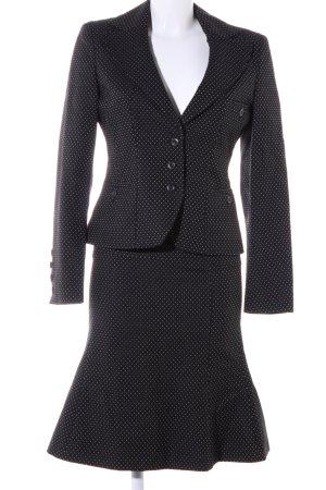 Strenesse Blue Tailleur noir-blanc motif de tache style d'affaires