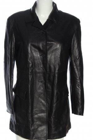 Strenesse Blue Faux Leather Jacket black casual look