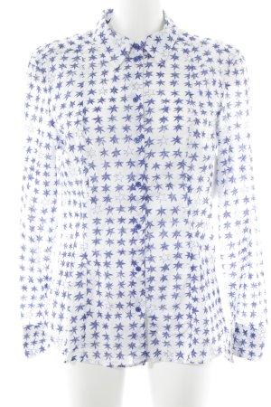 Strenesse Blue Langarmhemd weiß-blau Casual-Look