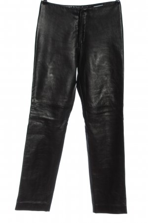 Strenesse Blue Pantalone in pelle nero stile casual