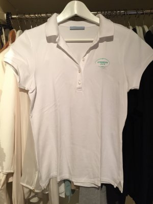 Strenesse Polo shirt wit-turkoois
