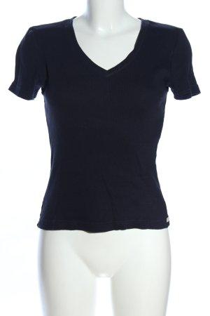 Strenesse Blue Camicia a coste nero stile casual