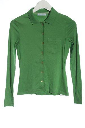 Strenesse Blue Chemise côtelée vert style décontracté