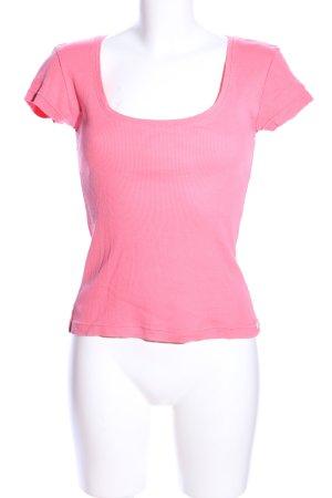 Strenesse Blue Prążkowana koszulka różowy W stylu casual