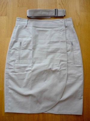 Strenesse Falda de tubo beige Algodón