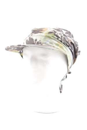 Strenesse Blue Visor Cap green-bronze-colored abstract pattern casual look