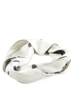 Strenesse Blue Silk Scarf natural white-black spot pattern casual look