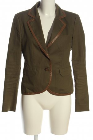 Strenesse Blue Knitted Blazer khaki-brown casual look