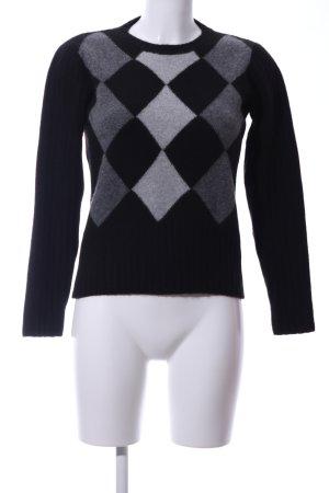 Strenesse Blue Maglione lavorato a maglia nero-grigio chiaro motivo grafico