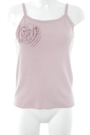 Strenesse Blue Top lavorato a maglia rosa stile romantico