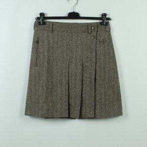 Blue Strenesse Kopertowa spódnica szaro-brązowy-jasnobrązowy Wełna