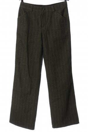 Strenesse Blue Woolen Trousers khaki striped pattern casual look