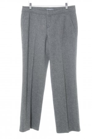 Strenesse Blue Woolen Trousers black-natural white abstract pattern