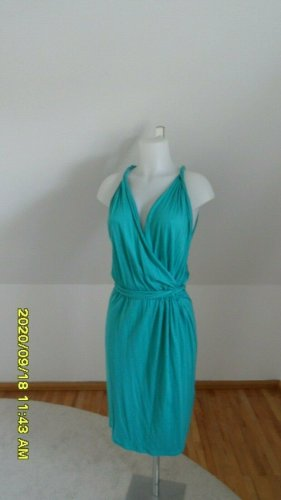 Blue Strenesse Robe en jersey turquoise coton