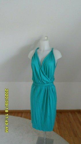 Blue Strenesse Sukienka z dżerseju turkusowy Bawełna